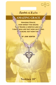 "<Br>               LEAD & NICKEL FREE!!<Br>                 SYMBOLS OF FAITH!!<Br>  W15477N - ""AMAZING GRACE"" <Br>         NECKLACE WITH GIFT CARD<Br>   AND ENVELOPE AS LOW AS $8.47"