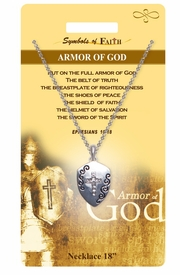 "<Br>               LEAD & NICKEL FREE!!<Br>                SYMBOLS OF FAITH!!<Br>  W15478N - ""ARMOR OF GOD"" <Br>         NECKLACE WITH GIFT CARD<Br>   AND ENVELOPE AS LOW AS $7.97"