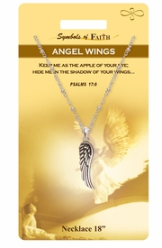 "<Br>               LEAD & NICKEL FREE!!<Br>                SYMBOLS OF FAITH!!<Br>          W15479N - ""ANGEL WINGS"" <Br>         NECKLACE WITH GIFT CARD<Br>   AND ENVELOPE AS LOW AS $6.97"