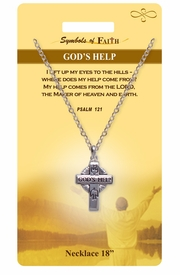 "<Br>               LEAD & NICKEL FREE!!<Br>                SYMBOLS OF FAITH!!<Br>           W15484N - ""GOD'S HELP"" <Br>         NECKLACE WITH GIFT CARD<Br>   AND ENVELOPE AS LOW AS $6.97"