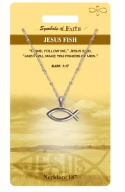 "<Br>               LEAD & NICKEL FREE!!<Br>                SYMBOLS OF FAITH!!<Br>  W15488N - ""JESUS FISH"" <Br>         NECKLACE WITH GIFT CARD<Br>   AND ENVELOPE AS LOW AS $6.97"