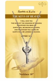 "<Br>               LEAD & NICKEL FREE!!<Br>                SYMBOLS OF FAITH!!<Br>  W15495N - ""THE KEYS OF HEAVEN"" <Br>         NECKLACE WITH GIFT CARD<Br>   AND ENVELOPE AS LOW AS $7.97"