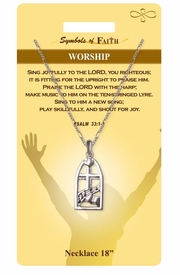 "<Br>               LEAD & NICKEL FREE!!<Br>                SYMBOLS OF FAITH!!<Br>            W15498N - ""WORSHIP"" <Br>         NECKLACE WITH GIFT CARD<Br>   AND ENVELOPE AS LOW AS $6.97"