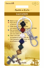 "<Br>              LEAD & NICKEL FREE!!<Br>               SYMBOLS OF FAITH!!<Br>W15576KC - ""SALVATION"" BEADED<Br>CROSS KEY CHAIN WITH GIFT CARD<Br>  AND ENVELOPE AS LOW AS $2.99"
