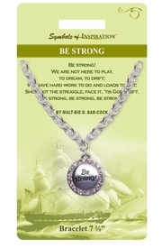 "<Br>                LEAD & NICKEL FREE!!<Br>        SYMBOLS OF INSPIRATION!!<Br>    W15336B - AUSTRIAN CRYSTAL<Br>ACCENTED ""BE STRONG"" BRACELET<Br>    WITH GIFT CARD AND ENVELOPE<Br>                   AS LOW AS $6.47"