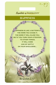 "<Br>                  LEAD & NICKEL FREE!!<Br>          SYMBOLS OF INSPIRATION!!<Br>W15348B - ""HAPPINESS"" BUTTERFLY<Br>      BRACELET WITH GIFT CARD AND<Br>          ENVELOPE AS LOW AS $9.47"