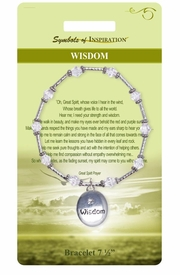 "<Br>         LEAD & NICKEL FREE!!<Br> SYMBOLS OF INSPIRATION!!<Br> W15365B - ""WISDOM"" OVAL<BR>BEADED BRACELET WITH GIFT<Br>         CARD AND ENVELOPE<Br>             AS LOW AS $9.47"