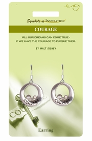 "<Br>              LEAD & NICKEL FREE!!<Br>       SYMBOLS OF INSPIRATION!!<Br>W15402E - ""COURAGE"" EARRINGS<Br>   WITH GIFT CARD AND ENVELOPE<BR>                   AS LOW AS $5.47"