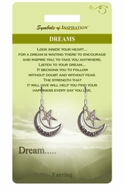 "<Br>                LEAD & NICKEL FREE!!<Br>        SYMBOLS OF INSPIRATION!!<Br>W15404E - ""DREAM"" MOON & STAR<Br>     EARRINGS WITH GIFT CARD AND<Br>         ENVELOPE AS LOW AS $5.47"