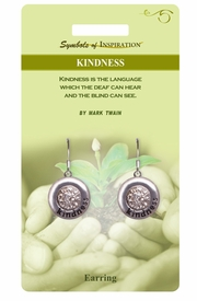 "<Br>              LEAD & NICKEL FREE!!<Br>       SYMBOLS OF INSPIRATION!!<Br>W15410E - ""KINDNESS"" EARRINGS<Br>   WITH GIFT CARD AND ENVELOPE<BR>                   AS LOW AS $5.47"