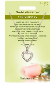 "<Br>                  LEAD & NICKEL FREE!!<Br>           SYMBOLS OF INSPIRATION!!<Br>W15435N - ""ANNIVERSARY"" AUSTRIAN<Br> CRYSTAL HEART NECKLACE WITH GIFT<BR>CARD AND ENVELOPE AS LOW AS $8.47"