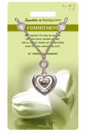 "<Br>                 LEAD & NICKEL FREE!!<Br>         SYMBOLS OF INSPIRATION!!<Br>W15440N - ""COMMITMENT"" HEART<Br>   DROP NECKLACE WITH GIFT CARD<BR>   AND ENVELOPE AS LOW AS $7.97"