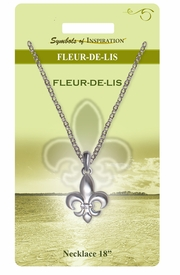 "<Br>                LEAD & NICKEL FREE!!<Br>        SYMBOLS OF INSPIRATION!!<Br>           W15446N- SILVER TONE<Br>        ""FLEUR-DE-LIS"" NECKLACE<Br>    WITH GIFT CARD AND ENVELOPE<Br>                    AS LOW AS $7.97"