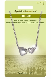 "<Br>               LEAD & NICKEL FREE!!<Br>        SYMBOLS OF INSPIRATION!!<Br>W15448N - ""FRIEND"" SILVER TONE<BR>AND AUSTRIAN CRYSTAL ACCENTED<Br> HEART NECKLACE WITH GIFT CARD<Br>  AND ENVELOPE AS LOW AS $7.97"
