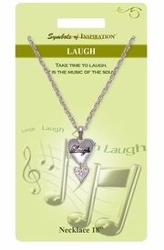 "<Br>               LEAD & NICKEL FREE!!<Br>        SYMBOLS OF INSPIRATION!!<Br>           W15454N - ""LAUGH"" HEART <Br>           NECKLACE WITH GIFT CARD<Br>   AND ENVELOPE AS LOW AS $7.97"