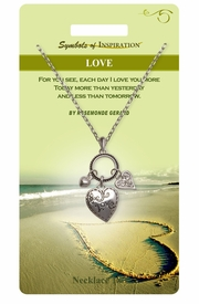 "<Br>               LEAD & NICKEL FREE!!<Br>        SYMBOLS OF INSPIRATION!!<Br>W15457N - ""LOVE"" 3 HEART DROP<Br>         NECKLACE WITH GIFT CARD<Br>   AND ENVELOPE AS LOW AS $7.97"