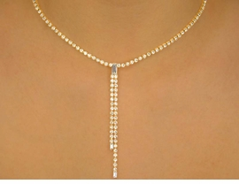 <BR>                       LEAD & NICKEL FREE<bR> W10334NE - GENUINE AUSTRIAN CRYSTAL<br>GOLD TONE DANGLE NECKLACE & EARRING<br>                 SET FROM $21.94 TO $40.50