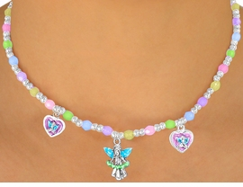 "<bR>                LEAD & NICKEL FREE!!<Br>W10460NBRA - CHILDREN'S LEAD &<Br>    NICKEL FREE ""ANGELS"" STRETCH<Br>  NECKLACE, BRACELET, & RING SET<bR> ASSORTMENT FROM $2.81 TO $5.63"