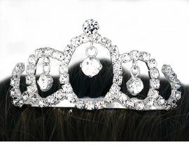 <Br>           LEAD & NICKEL FREE!!<Br> W10545T - MINIATURE GENUINE<br>AUSTRIAN CRYSTAL TIARA COMB<Br>               FROM $4.64 TO $8.75