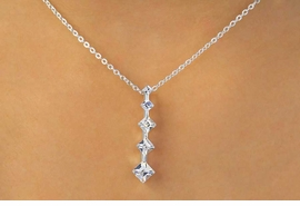 <BR>              LEAD & NICKEL FREE!!<Br>   W11628NE - 5-STONE GENUINE<br>AUSTRIAN CRYSTAL STRAND DROP<Br>        NECKLACE & EARRING  SET<BR>             FROM $8.13 TO $15.00