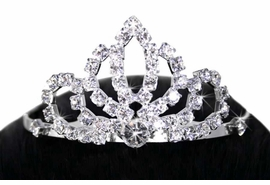 <Br>                           LEAD & NICKEL FREE!!<Br> W11811T - ELEGANT GENUINE AUSTRIAN CRYSTAL<Br>              TIARA HAIR COMB FROM $3.94 TO $8.75