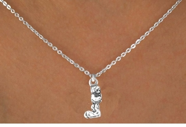 <Br>            LEAD & NICKEL FREE!!<BR>    W12187N - STERLING SILVER<Br>PLATED KNEELED PRAYING CHILD<Br>  NECKLACE FROM $3.25 TO $7.50