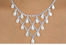 <Br>            LEAD & NICKEL FREE!!<BR>    W12230NE - GENUINE CLEAR<Br>AUSTRIAN CRYSTAL NECKLACE &<Br>               EARRING SET FROM<Br>                  $34.13 TO $63.00