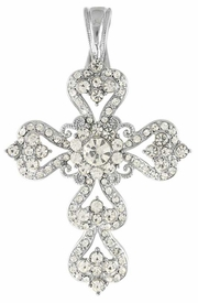<Br>           LEAD & NICKEL FREE!!<Br>W12368N - BEAUTIFUL GENUINE<br> AUSTRIAN CRYSTAL MAGNETIC<Br>     CLOSURE CROSS PENDANT<br>           FROM $9.50 TO $12.50