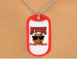 "<Br>                   LEAD & NICKEL FREE!!<Br>W12495N - ""ATTITUDE IS EVERYTHING""<Br>RED DOG TAG & BALL CHAIN NECKLACE<Br>                       AS LOW AS $3.45"