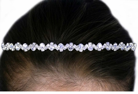 <BR>           LEAD & NICKEL FREE!!<Br>W12672HJ - GENUINE AUSTRIAN<BR>     CRYSTAL WAVE HEADBAND<Br>          FROM $5.63 TO $12.50