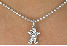 "<BR>                   LEAD & NICKEL FREE!!<Br>   W12731N - CHILDREN'S "" BOY WITH A<BR> HEART OF LOVE"" BALL CHAIN NECKLACE<BR>                       AS LOW AS $2.50"