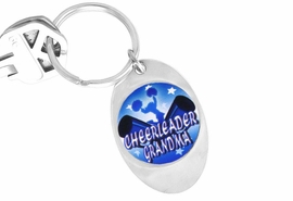"<Br>         LEAD & NICKEL FREE!!<Br> W13040KC - ""CHEERLEADER<Br>GRANDMA""  BLUE KEY CHAIN<Br>              AS LOW AS $1.99"
