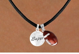 "<Br>    LEAD & NICKEL FREE!!<Br>W13580N - ""SUPER"" DISC<br>  & FOOTBALL NECKLACE<br>         AS LOW AS $4.50"