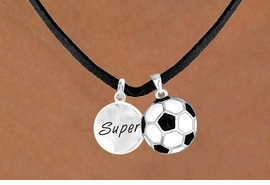 "<Br>       LEAD & NICKEL FREE!!<Br>W13581N - ""SUPER"" DISC &<br>    SOCCER BALL NECKLACE<br>            AS LOW AS $4.50"