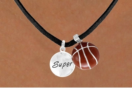 "<Br>     LEAD & NICKEL FREE!!<Br>W13582N - ""SUPER"" DISC<br>& BASKETBALL NECKLACE<br>          AS LOW AS $4.50"