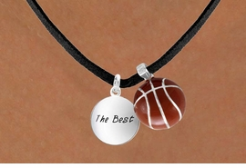 "<Br>       LEAD & NICKEL FREE!!<Br>W13584N - ""THE BEST"" DISC<br>   & BASKETBALL NECKLACE<br>             AS LOW AS $4.50"