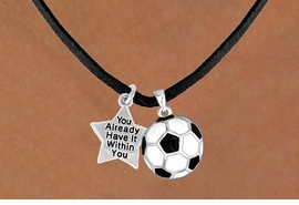 <Br>            LEAD & NICKEL FREE!!<Br>W13605N - ALREADY WITHIN YOU<br> STAR & SOCCER BALL NECKLACE<BR>                 AS LOW AS $4.50