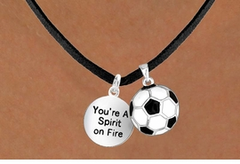 "<Br>      LEAD & NICKEL FREE!!<Br>W13619N - ""SPIRIT ON FIRE""<br>  & SOCCER BALL NECKLACE<br>            AS LOW AS $4.50"