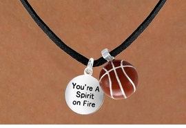 "<Br>       LEAD & NICKEL FREE!!<Br>W13620N - ""SPIRIT ON FIRE""<br>   & BASKETBALL NECKLACE<br>             AS LOW AS $4.50"