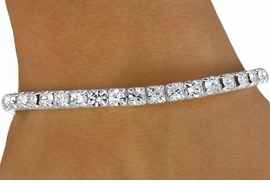 <Br>            LEAD & NICKEL FREE!!<Br> W13627B - GENUINE AUSTRIAN<Br>      CRYSTAL STRAND STRETCH<Br>BRACELET FROM $4.15 TO $8.35