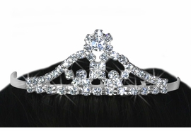 <Br>          LEAD & NICKEL FREE!!<bR>W14230T - GENUINE AUSTRIAN<br>  CRYSTAL SMALL TIARA COMB<br>           FROM $3.35 TO $7.50