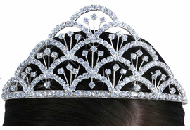 "<Br>                 LEAD & NICKEL FREE!!<Br>       W14238T - BEAUTIFUL GENUINE<br>      AUSTRIAN CRYSTAL ""WATERFALL<Br>FOUNTAIN"" TIARA FROM $12.94 TO $28.75"