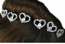 <Br>                LEAD & NICKEL FREE!!<Br>      W14255HJ - 6-PIECE GENUINE<Br> AUSTRIAN CRYSTAL STICK PIN HAIR<Br>JEWELRY SET FROM $14.63 TO $32.50