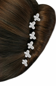 <Br>           LEAD & NICKEL FREE!!<Br> W14260HJ - 6-PIECE GENUINE<br>AUSTRIAN CRYSTAL BUTTERFLY<br>STICK PIN HAIR JEWELRY FROM<Br>               $12.38 TO $27.50