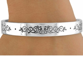"<bR>                LEAD & NICKEL FREE!!<Br>   W14386B - ""FAITH-HOPE-LOVE""<br>INNER ENGRAVED SILVER TONE CUFF<br>          BRACELET AS LOW AS $3.15"