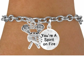 "<Br>               LEAD & NICKEL FREE!!<Br>W14428B - ""LACROSSE"" STICKS &<Br> ""SPIRIT ON FIRE"" CHAIN BRACELET<BR>                    AS LOW AS $4.15"
