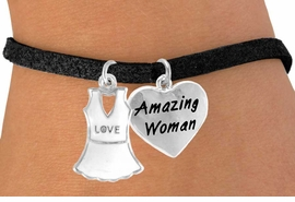 "<Br>             LEAD & NICKEL FREE!!<Br>W14455B - ""LOVE"" TENNIS DRESS<BR>    & ""AMAZING WOMAN"" SUEDE<BR>      BRACELET AS LOW AS $4.15"