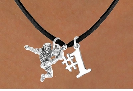 "<Br>             LEAD & NICKEL FREE!!<Br>    W14472N - SOCCER KICKER &<BR>""#1"" NECKLACE AS LOW AS $4.15"