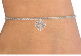 <Br>         LEAD & NICKEL FREE!!<BR>  W14505B - CROSS & HEART<Br>CHILDREN'S CHAIN BRACELET<BR>         FROM $3.25 TO $7.50