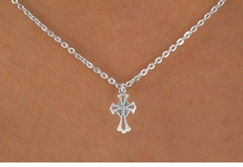 "<Br>             LEAD & NICKEL FREE!!<BR>   W14521N - SILVER TONE CROSS<Br>CHILDREN'S 12"" CHAIN NECKLACE<BR>             FROM $3.55 TO $7.50"